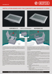 Installation boxes into the concrete - KOPOBOX