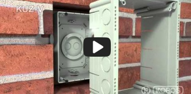 Embedded thumbnail for Monteringsvejledning universalkasse KUZ-V med låg